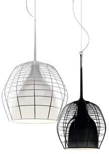 Foscarini Diesel Living With Cage 1 - Light Single Dome Pendant Diesel Living With Color: White, Shade Color: White, Cable Length: Small