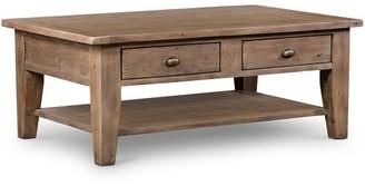 "Pottery Barn Beckett 50"" Reclaimed Wood Coffee Table"