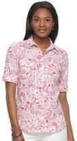 Croft & Barrow Women's Roll-Tab Shirt