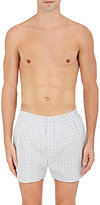 Sunspel Men's Checked Cotton Boxers