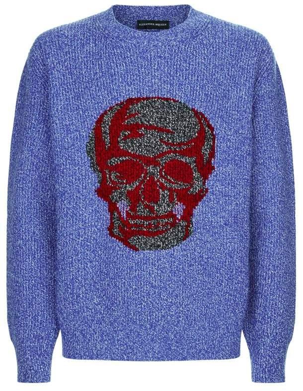 Alexander McQueen Skull Intarsia Sweater
