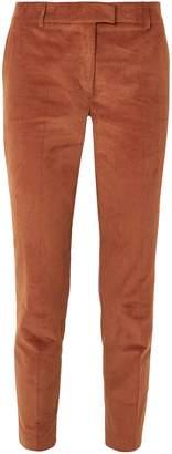 Paul & Joe Cropped Stretch-cotton Corduroy Tapered Pants