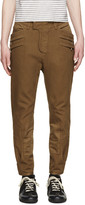 Balmain Brown Cropped Trousers