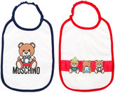 Moschino Kids Teddy bear bib set