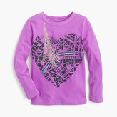 J.Crew Girls' metallic map of Paris T-shirt