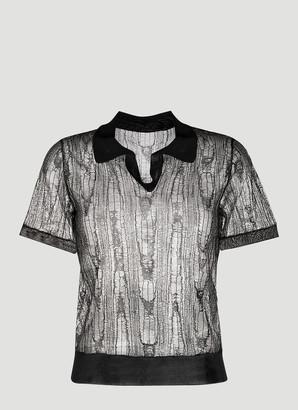 Maison Margiela Sheer Polo Shirt