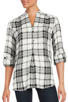 Lord & Taylor Plaid Long Sleeve Blouse