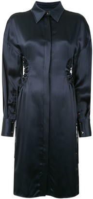 Proenza Schouler Satin Shirt Dress