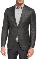 Ermenegildo Zegna Check Wool Two-Button Sport Coat