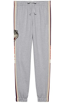 Gucci stripe cotton track bottoms