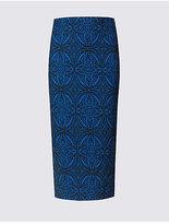 M&S Collection Paisley Print Pencil Midi Skirt