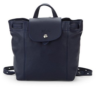 Longchamp Le Pliage Cuir Leather Backpack