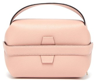 Valextra Tric Trac Grained-leather Bag - Womens - Light Pink