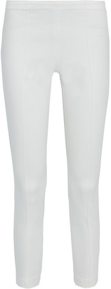 The Row Laviez Cropped Cotton-blend Twill Skinny Pants