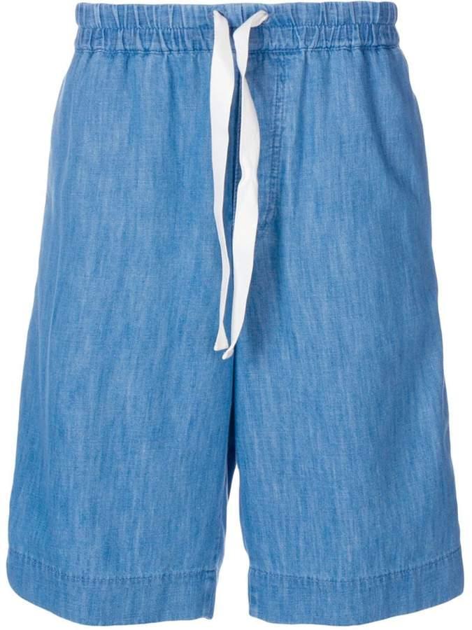 Gucci web trim denim shorts