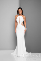 Terani Prom - Daring Halter Mermaid Gown with Side Cutouts 1712E3297