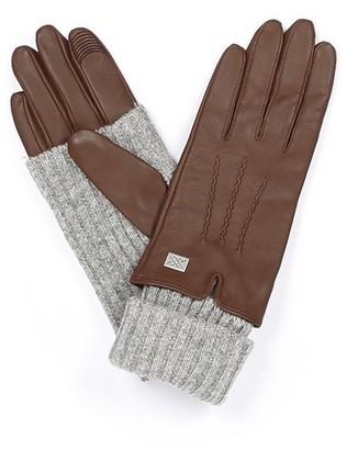 Soia & Kyo Carmel Autumn Leather Gloves - Large