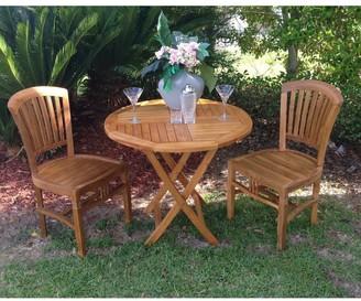 Chic Teak Orleans Teak Wood Indoor/ Outdoor Dining Side Chair
