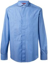 Barena hidden button placket shirt