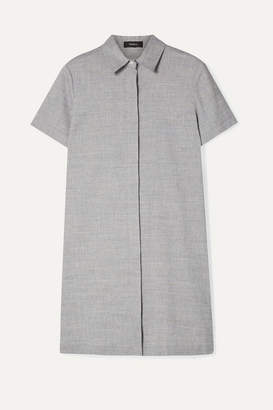 Theory Organic Linen-blend Mini Dress - Light blue