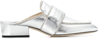 Jimmy Choo x YK Jeong crystal embellished slippers
