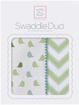 Swaddle Designs SwaddleDuo Little Chickies & Chevron - Kiwi