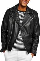 Topman Oversize Leather Biker Jacket