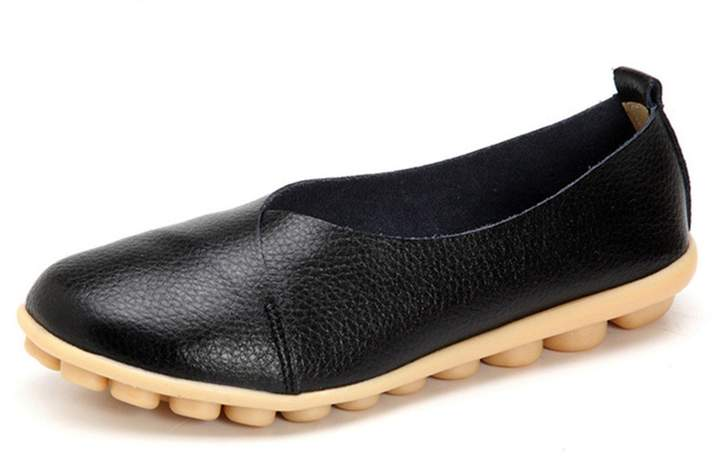 26ce9601f70e1 York Zhu Loafers for Women, Sewing Round Toe Slip on Moccasins Flats Shoes
