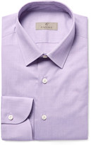 Canali Lilac Slim-Fit End-On-End Cotton Shirt