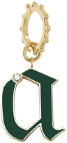 Foundrae Green Champlevé Enamel Initial Charm with Connector