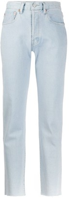 Levi's Made & Crafted cropped straight-leg jeans