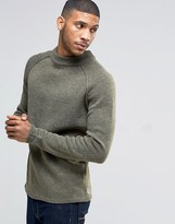 Bellfield Reverse Seam Turtleneck Knitted Sweater
