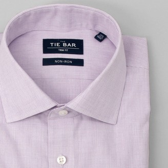 Tie Bar Petite Houndstooth Lavender Non-Iron Dress Shirt