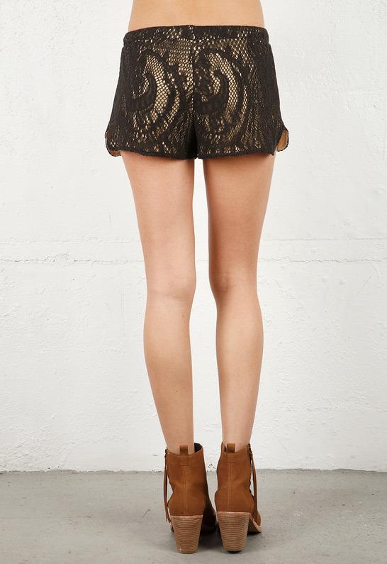 Leyendecker Plaster Shorts in Black -