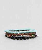 Asos Multi COLORED Beaded Bracelet Pack