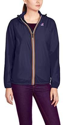 K-Way Women's Le Vrai Claudette Blouse Long Sleeve Raincoat -, Medium (Manufacturer size: 7 / 86-90 cm)