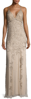 Jenny Packham Silk Embellished Criss Cross Gown