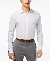 Alfani Fitted Solid Performance Stretch Easy Care French Cuff Shirt