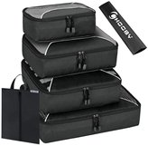 CHOOBY 6 Set Packing Cubes-(4 Cubes + 1 Laundry Bag + 1 Shoes Bag)Travel Luggage Packing Organizers...
