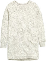 H&M Sweatshirt Dress - Light gray melange - Ladies