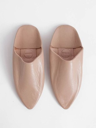 Bohemia Moroccan classic pointed babouche slippers - Nude - X Large