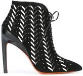 Santoni lace-up ankle boots