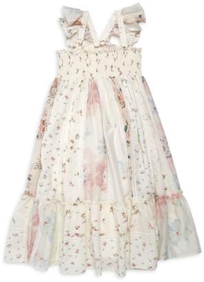 Bonpoint Little Girl's & Girl's Floral Patchwork Dress