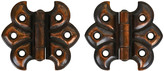 Rejuvenation Pair of Japanned Copper Butterfly Hinges c1900