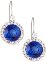FANTASIA Cubic Zirconia Drop Earrings w/ Synthetic Sapphire