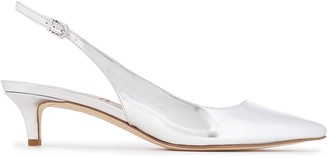 Sam Edelman Metallic Faux Leather Slingback Pumps