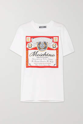 Moschino Budweiser Printed Cotton-jersey T-shirt - Red