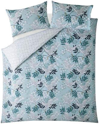 Fat Face Oriental Crane and Palm Quilt Duvet Cover Set