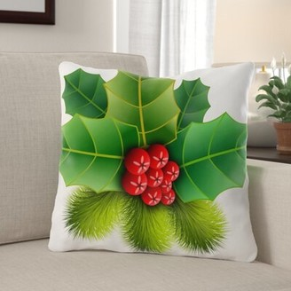 Pershing The Holiday Aisle Christmas Indoor/Outdoor Canvas Throw Pillow The Holiday Aisle