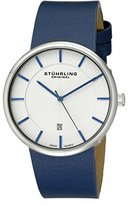 Stuhrling Original Classic Ascot Fairmount Men's Quartz Watch with White Dial Analogue Display and Blue Leather Strap 244.3315C2